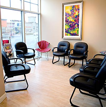 Cornerstone Dental Waiting Area | Okotoks Family Dentist